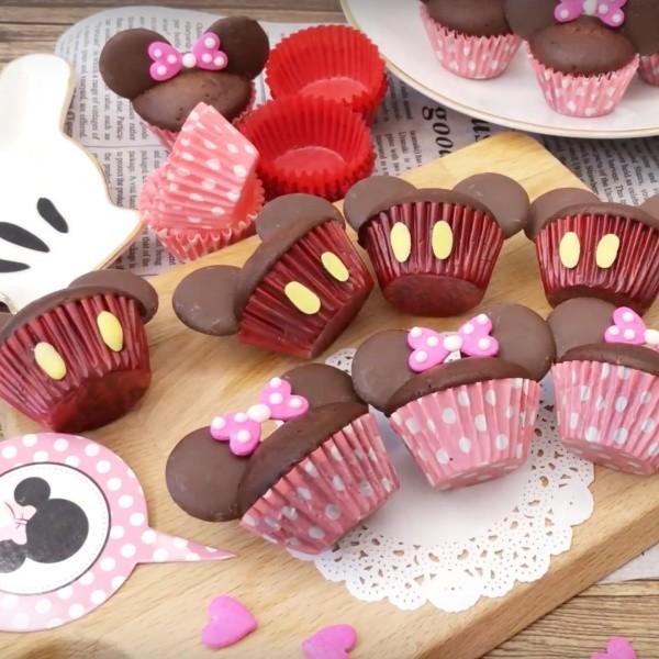 【妹豬媽 mujima】米奇米妮卡通造型杯子蛋糕