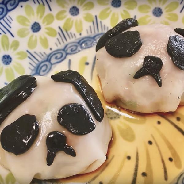 【上田太太】簡單創意料理!黑白熊貓餃子