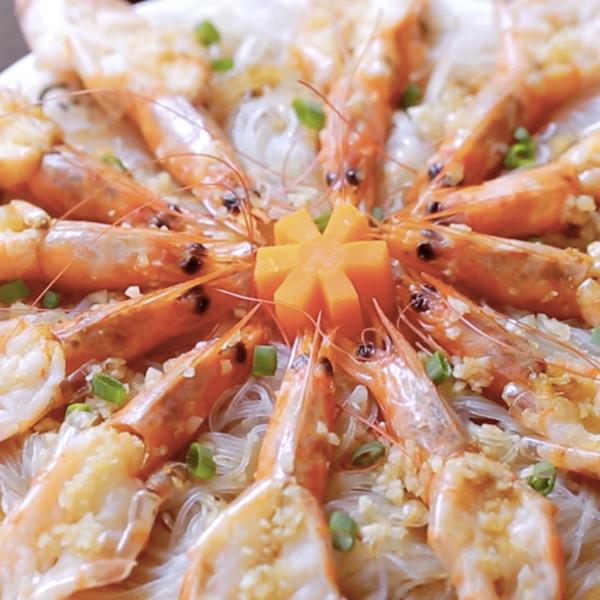 【豆果美食】花開富貴蒜味蝦 中式食譜做法