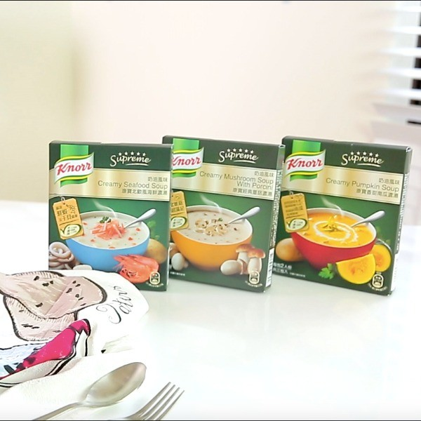 康寶濃湯美味變身!自己做米其林級「白醬海鮮義大利麵」