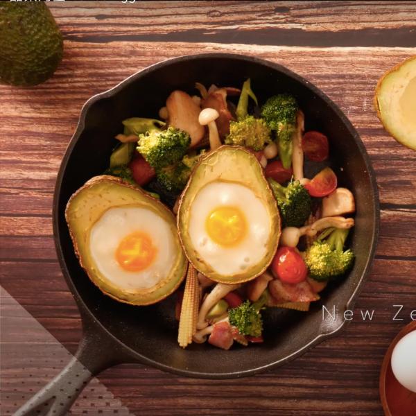 營養滿點早午餐~紐西蘭酪梨烤蛋熱沙拉