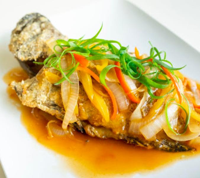 「氣炸糖醋石斑魚」用烤箱也能做出黃金酥脆口感的餐廳大菜   矽谷美味人妻 鱻活一號龍虎石斑魚試吃開箱心得